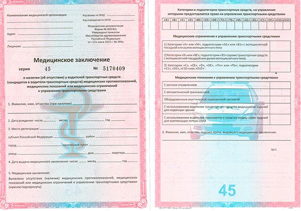 Оформить медицинскую справку для водительских прав Люберцы
